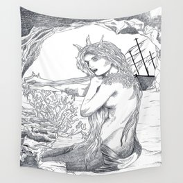 Le petite sirène  Wall Tapestry