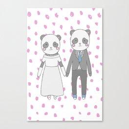 Wedding pandas Canvas Print