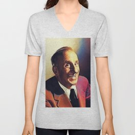 Jimmy Durante, Vintage Entertainer Unisex V-Neck