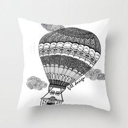Hot Air Baloon Throw Pillow