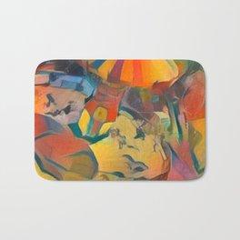 abstract Carnival ride Bath Mat