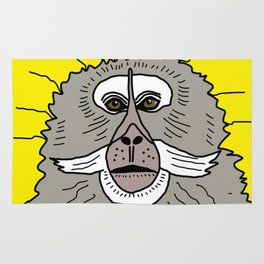 Dreaming of a better place: Marcel the monkey Rug