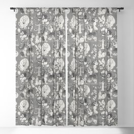 Zodiac Toons Sheer Curtain