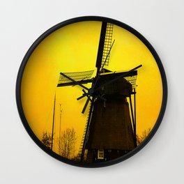 Dutch Windmill Wall Clock