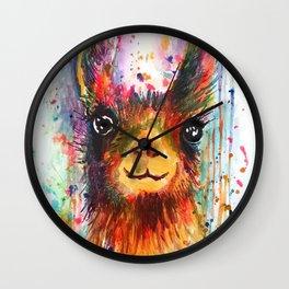 Llama love Wall Clock