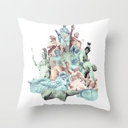 Statue Collage v.2 Throw Pillow