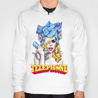 telephone Hoodies featuring Telephone by Denda Reloaded