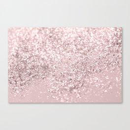 Blush Glitter Dream #1 #shiny #decor #art #society6 Canvas Print