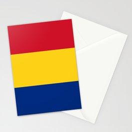 Flag of romania 3 -romania,romanian,balkan,bucharest,danube,romani,romana,bucuresti Stationery Cards