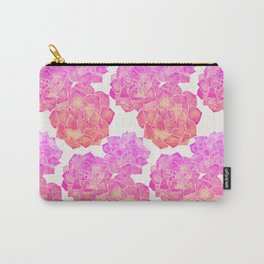 Rosette Succulents – Pink Palette Carry-All Pouch