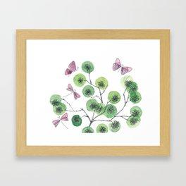 a touch of summer fragrance - white background Framed Art Print