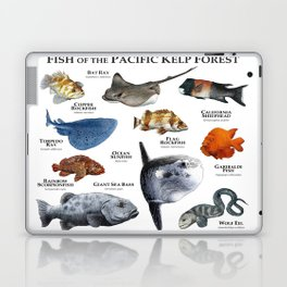 Fish of the Pacific Kelp Forest Laptop & iPad Skin