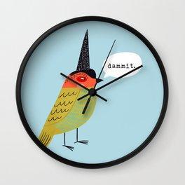 Birds With Attitude: Dammit Wall Clock
