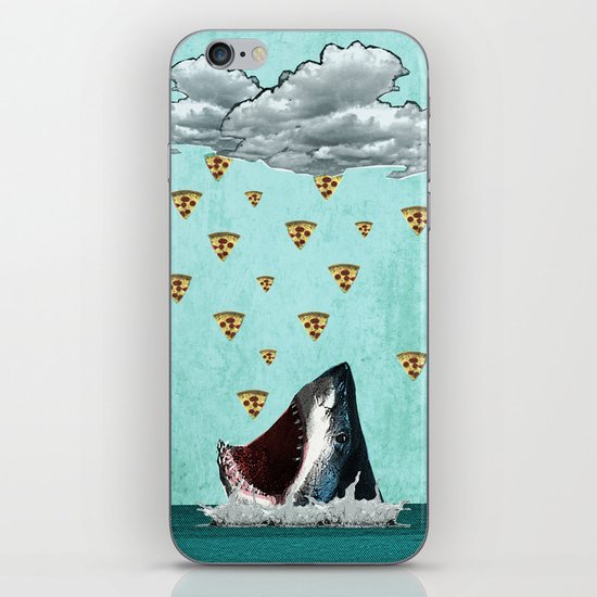 Pizza Shark Print iPhone & iPod Skin