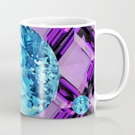 BLUE AQUAMARINES & PURPLE AMETHYST BIRTHDAY GEMS Coffee Mug