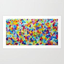 Color Spackle Art Print