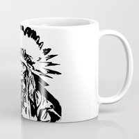 native american Mugs featuring Native by Lauryn Danae