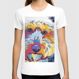 74b661b4e Goldendoodle or Labradoodle Pop Art Dog Portrait T-shirt