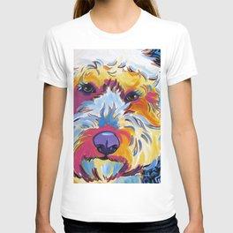 Goldendoodle or Labradoodle Pop Art Dog Portrait T-shirt