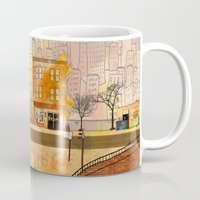brooklyn Mugs featuring Brooklyn by Katy Davis