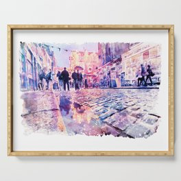 Dublin Watercolor Streetscape Serving Tray