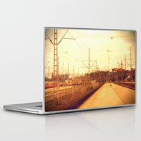 finland Laptop & iPad Skins featuring helsinki (finland) - railway station by aune