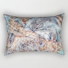winter leaves pattern Rectangular Pillow