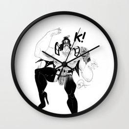 Maori kiss Wall Clock