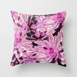 Pink Desert Succulents Throw Pillow