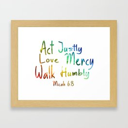 bible art Framed Art Print