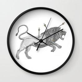 Mesopotamian Lion Wall Clock