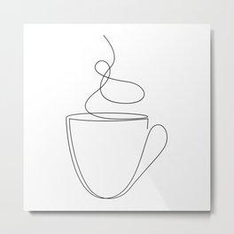 coffee or tea cup - line art Metal Print