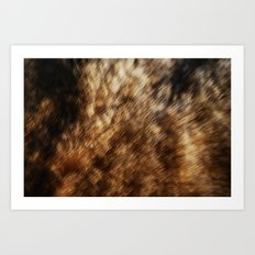 fur blur Art Print