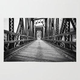 Old Train Bridge Bath, NH Rug