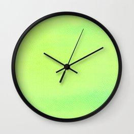 Hand painted DW-M Green lemon color Wall Clock