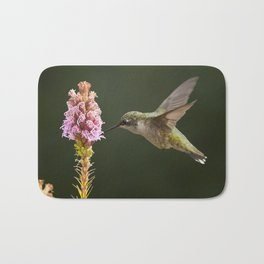 Hummingbird and flower II Bath Mat