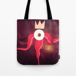 Red King Octopus Tote Bag