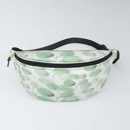 Modern neo mint forest green watercolor foliage greenery Fanny Pack