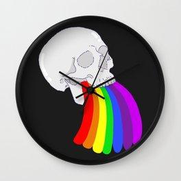 Rainbow Vomit Wall Clock