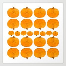 Pumpkin Pattern | Rustic Art Print