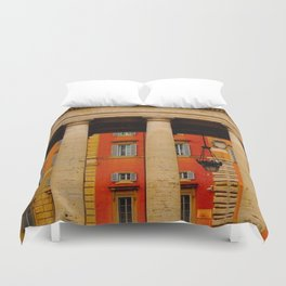 Neighbors to The Pope! Duvet Cover