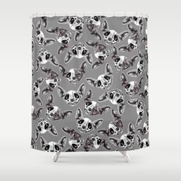 Shynx Half Skull Pattern Shower Curtain