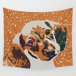 """Atomic Fireball"" ~ Dachshund, Weiner Dog, Doxie, everywhere! Wall Tapestry"
