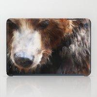 bear iPad Cases featuring Bear // Gold by Amy Hamilton