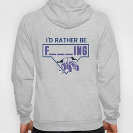 Mens I'd Rather Be Farming Tractor Design For A Hobby Farmer design Hoody