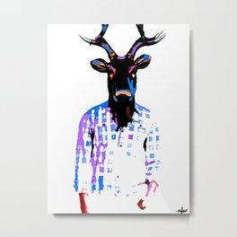 Deer Man Date You Looked Different on Facebook Metal Print