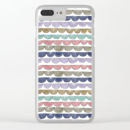 decorative pattern in pale colors Clear iPhone Case