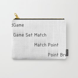 End Game Set Match Point Break Carry-All Pouch