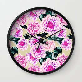 Floral blooming Wall Clock