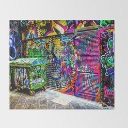 Street art Throw Blanket